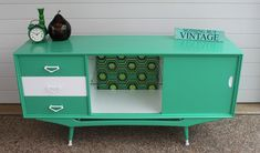 Ultra retro sideboard refinished by Nothing But Vintage ( www.facebook.com/NothingButVintage )... pinned with Pinvolve