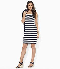 Lauren Ralph Lauren ButtonDown Stripe Dress #Dillards