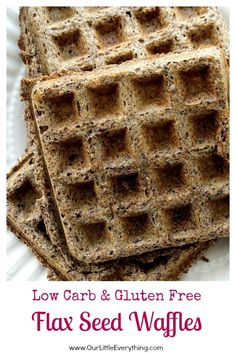 Low Carb Gluten Free Flax Seed Waffles - moist with crispy edges, these waffles…