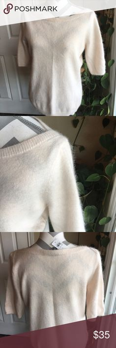 Ann Taylor sweater Gorgeous!  This sweater can be worn with just about anything!  Soft pink color.  Never worn. Ann Taylor Sweaters Crew & Scoop Necks
