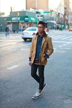 Street style: Outfit: Mens Fall Outerwear Double Up  See the full post HERE FACEBOOK   TWI