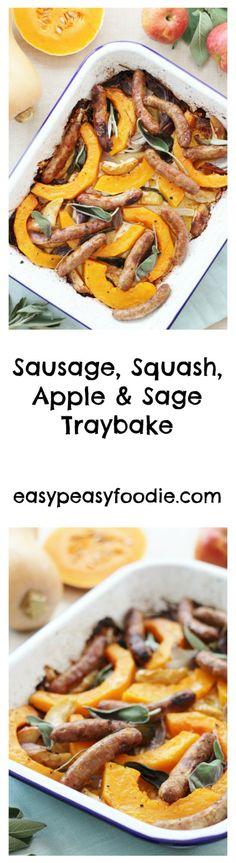 Sausage, Squash, Apple and Sage Traybake