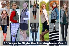 10 ways to wear a herringbone vest