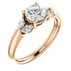 14K Rose Round Engagement Ring | CALLA 122316