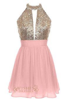 Affordable bicolor short Prom Dress AM421