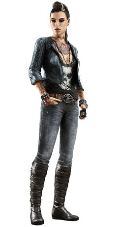 Clara Lille - Watch Dogs  I actually think she's pretty cool so far.