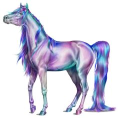 Mythical Creatures Art, Magical Creatures, Fantasy Creatures, Horse Drawings, Cute Animal Drawings, Beautiful Horses, Animals Beautiful, Unicorn Pictures, Horse Artwork