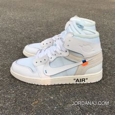 0a177eb71a0a OFF-WHITE X Air Jordan 1 OW Collaboration All White AQ0818-100 Top Deals