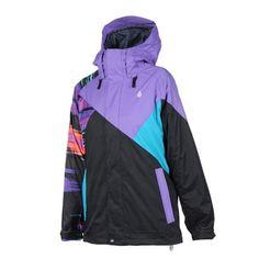 cf63cbd303e Womens Volcom Iconic Winter Jacket Black Rain Jacket
