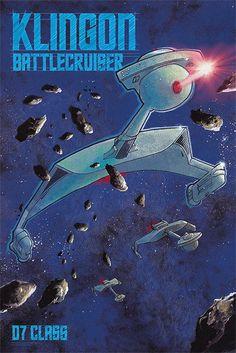 Klingon Battle cruiser by Bye Bye, Robot