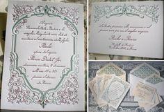 Letterpress printed wedding invitation —{ Francese No. 1 }