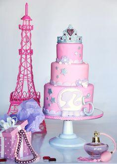 Girly girl Barbie cake.