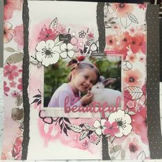 scrapbook layout using Kaisercraft's Magenta paper collection Baby Scrapbook Pages, Travel Scrapbook, Scrapbook Albums, Scrapbooking Layouts, Scrapbook Cards, Hip Kit Club, Kids Pages, Photo Layouts, Layout Inspiration