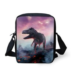 Small 3D Animal Zoo Printing School Bags for Kids Super Cute Dinosaur Children Messenger Bag Women Crossbody Travel Bag Mochila