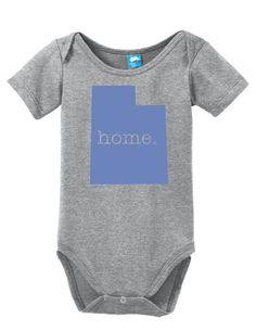 Utah Home Onesie Funny Bodysuit Baby Romper
