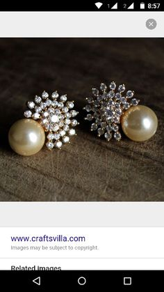 Solitaires starting at Rs. available exclusively at Talwar Jewellers India Jewelry, Pearl Jewelry, Antique Jewelry, Jewelery, Indian Wedding Jewelry, Bridal Jewelry, Trendy Jewelry, Fashion Jewelry, Simple Earrings