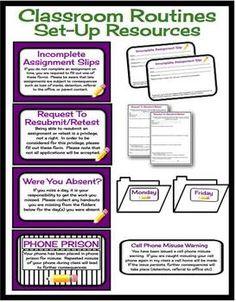 CLASSROOM MANAGEMENT RESOURCE BUNDLE: MIDDLE  HIGH SCHOOL - TeachersPayTeachers.com