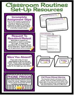CLASSROOM MANAGEMENT RESOURCE BUNDLE: MIDDLE  HIGH SCHOOL - TeachersPayTeachers.com