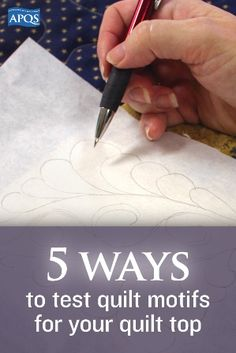 There are many ways to audition quilting ideas on your quilt top. Here are five of the best...