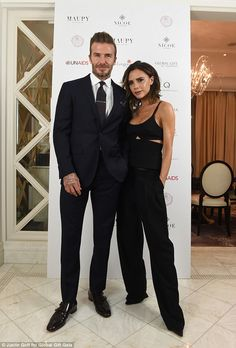 Dapper David: Beckham was on hand to support his wife who was co-hosting the event