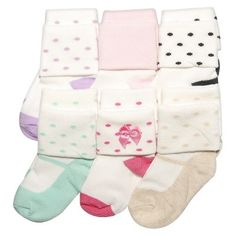 Just One You™Made by Carter's® Newborn Girls' 6 Pack Cuff Mary Jane Socks   0-3 M $7.99