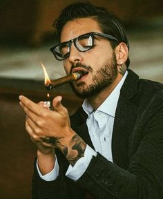 Cigars are a lifestyle. Theyre an appreciation of the passing of time. Gentleman Mode, Gentleman Style, Maluma Style, Maluma Pretty Boy, Mode Man, Cigar Men, Man Smoking, Hommes Sexy, Attractive Men