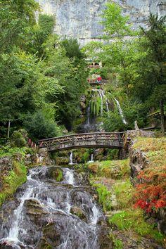 Waterfall, St_Beatus_Caves in Beatenberg, Interlaken - Switzerland ** This is gorgeous!