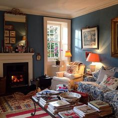 Louise Townsend's cozy home on justjanblog.