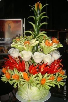 Inspiration pic of edible veggie flowers