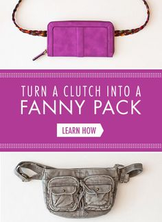 Turn a Clutch into a Fanny Pack | Brit + Co.