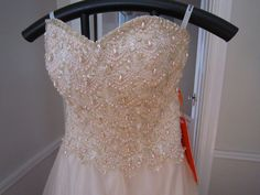 NOS Bustier Pearl and Tulle Prom Ball Wedding Gown by elvisgrl63