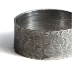 Mens Ring Hammered