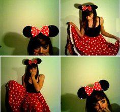 Minnie mouse, eat your heart out. This will be my outfit for her party. :P