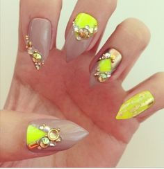 Nude nail radness love the simplicity n bling dope nail swag