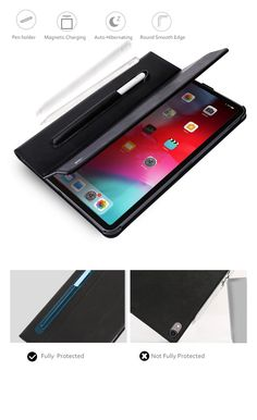 Micro Fiber Leather Smart Cover for iPad Pro and Gen - with Stylus Pen Holder and Magnetic Charging – Exotic Ideas Pen Holders, Stylus, Ipad Pro, Magnets, Exotic, Fiber, Leather, Ideas, Style