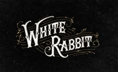 white rabbit digital gold lettering