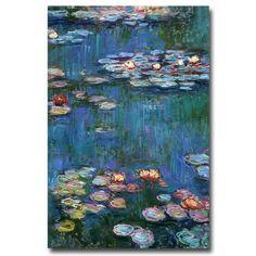Waterlillies Canvas Art by Monet