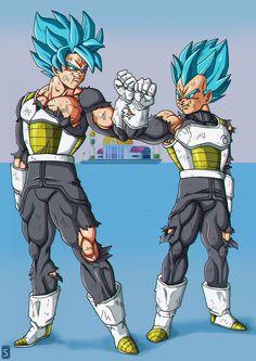 Goku-Vegeta 3Y Training by bloodsplach on @DeviantArt