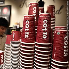 Coke has reached an agreement to buy Costa Coffee, which has nearly stores across 32 countries. Take Away Cup, Costa Coffee, Coffee Business, Cup Design, Coffee Cafe, Give It To Me, How To Make, London England