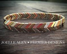 "LOVE the mixed metals of the NEW @premierdesignsinc ""Calico"" stretch bracelet…"