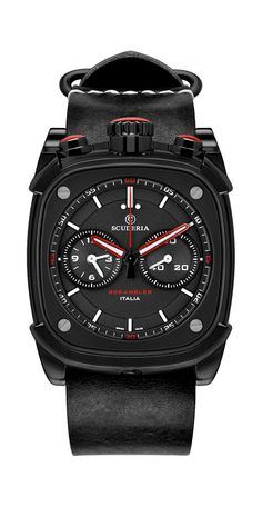 CT Scuderia Watch Scuderia Scrambler Chronograph Watch available to buy online from with free UK delivery. Cool Watches, Watches For Men, Red Watches, Scrambler, Watches Online, Watch Brands, Casio Watch, Black N Yellow, Chronograph
