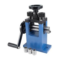 This tool that looks like a mini rolling mill is perfect for shaping wires and sizing rings. Ring Roller, Roller Set, Rolling Mill, Metal Forming, Stretches, Wire, Rings, Seattle, Shop