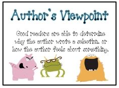 author's viewpoint, this site has a nice list of reading skills and strategies. Nice visuals from when we discuss these skills and strategies. Reading Comprehension Posters, Reading Strategies Posters, Reading Posters, Reading Resources, Writing Strategies, Reading Activities, Reading Lessons, Reading Skills, Teaching Reading