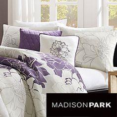 Madison Park Bridgette 6-piece Duvet Cover Set. Love this. Purple and black and white. it's perfect.