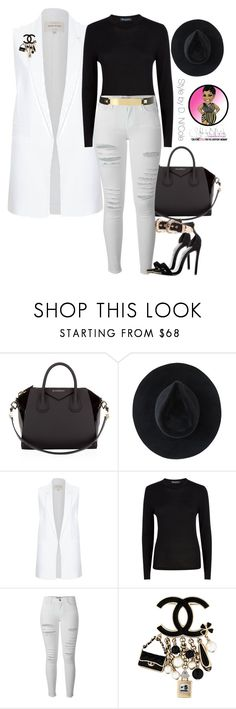"""""""Untitled #2661"""" by stylebydnicole ❤ liked on Polyvore featuring Givenchy, Ryan Roche, River Island, Aquascutum, Frame and Chanel"""