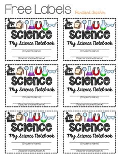 Interactive Notebook Labels - Panicked Teacher's Blog