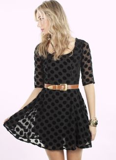 """Formerly Known As Dress, $99.  By Mink Pink  Mink Pink Polka Dotted Dress, Way Cool!  100% Polyester, Lined, Imported, Hand Wash Cold. Size XS Length 32"""""""