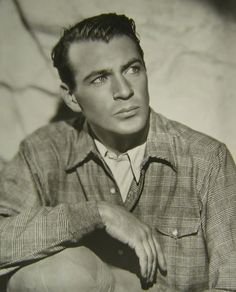 Gary Cooper sporting casual threads and a serious expression. #actors #vintage #men