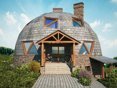 Green House Design, Dream Home Design, Cabana, Yurt Home, Hotel Floor Plan, Silo House, Geodesic Dome Homes, Home Structure, Cheap Houses