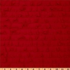 Stretch Ruffle Knit Red from @fabricdotcom  This fun and flirty stretch knit fabric features horizontal ruffles that run from selvedge to selvedge and ruffles measure about 1''. Fabric has four way stretch for added comfort and ease and about 40% stretch across the grain. It is perfect for tops, costumes, flirty lingerie, skirts, diaper covers and more!